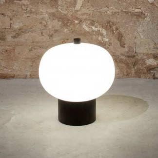 Lámpara de mesa Ilargi Grok negra y blanca