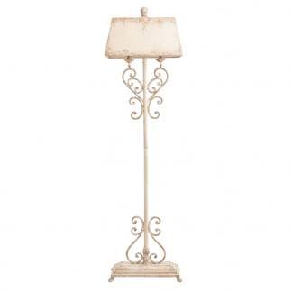 Comprar lámpara antigua de pie blanca de hierro