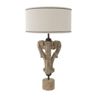 Comprar lámpara de mesa envejecida con detalles de estilo Art Deco de la marca Vical