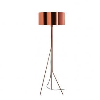 Lampara de pie en color cobre diseno Diagonal Exo Novolux estilo contemporaneo