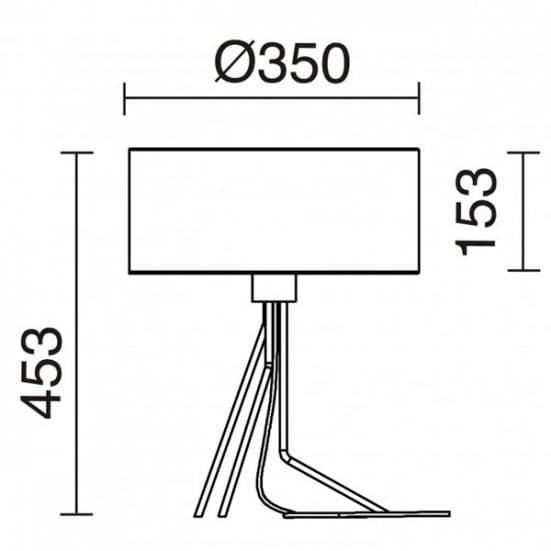 Medidas lampara de mesa diseno Diagonal Exo Novolux estilo contemporaneo