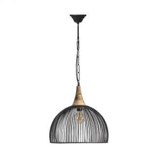 Lámpara de techo de alambre curva