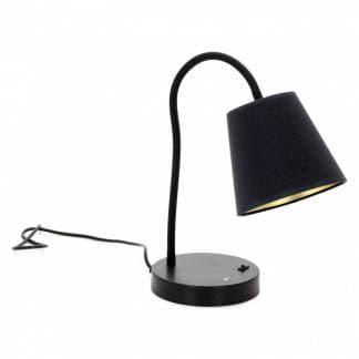 Comprar flexo negro para escritorio elegante. Diseño Montecarlo de Exo Lighting. Estilo clásico y de pequeño tamaño.