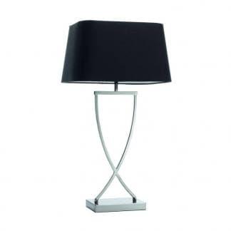 Comprar lámpara con mesa original IRIS de la marca Exo Lighting de Novolux con pantalla negra de diseño clasico
