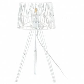 Comprar lámpara de mesa TESS blanca de acero de diseño moderno