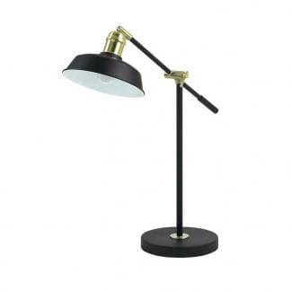 Flexo elegante negro y dorado Oma. Diseño de Exo Lighting Novolux