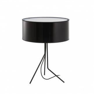 Lampara de mesa alta en color negro diseno Diagonal Exo Novolux estilo contemporaneo