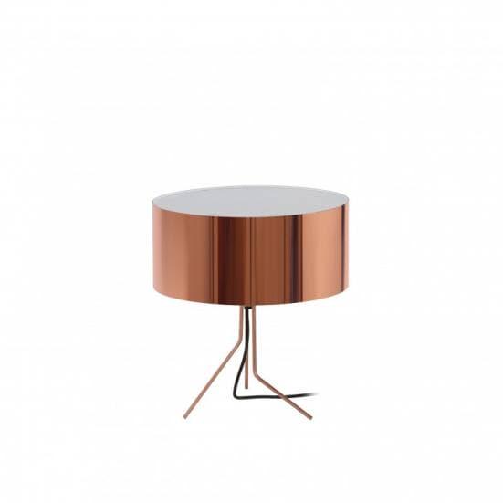 Lampara de mesa en color cobre diseno Diagonal Exo Novolux estilo contemporaneo