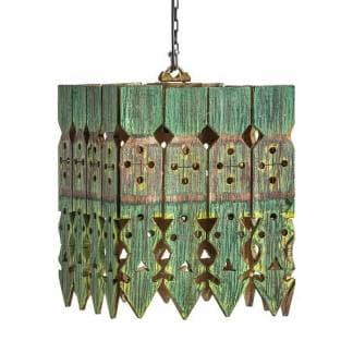 Lámpara de techo étnica artesanal