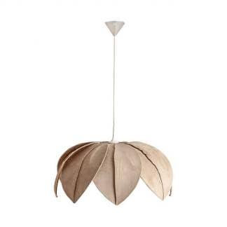 Lámpara de techo hojas crema