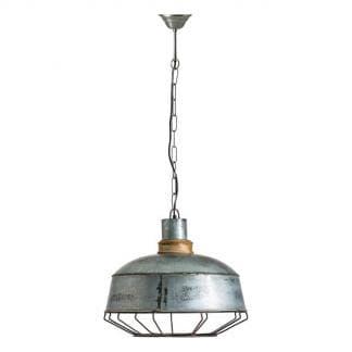 Lámpara de techo industrial de chapa