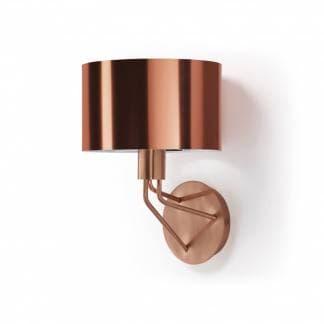 Aplique de pared cobre moderno Diagonal de la marca Exo Lighting - Diseño de Nacho Timón