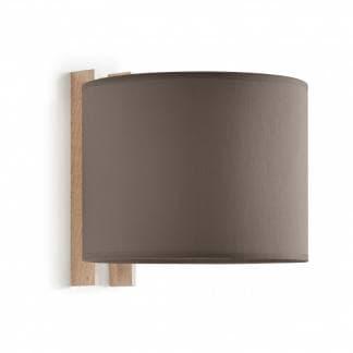 Comprar aplique de pared Wood de Exo Lighting. Aplique de madera de haya y algodón marrón. Estilo nórdico.