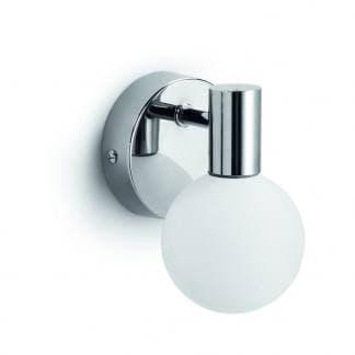 Posición aplique de baño de acero y cristal Sun. Exo Lighting