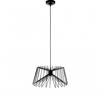 Lámpara de techo de metal negro