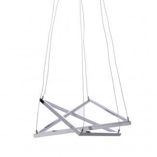 Lámpara colgante en forma de doble triangulo