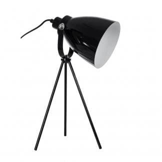 Flexo con tres patas en color negro estilo vintage