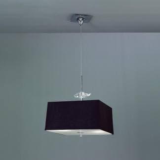 Lámpara de techo negra y cromo akira mantra