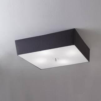 Lámpara de techo o plafón cromo negro akira mantra