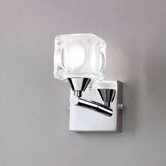 Aplique de pared cromo cristal cuadrax mantra