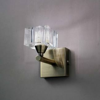 Aplique de pared cristal cuero cuadrax mantra