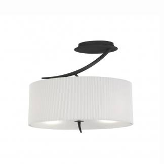 Lámpara de techo color antracita con pantalla blanca eve mantra