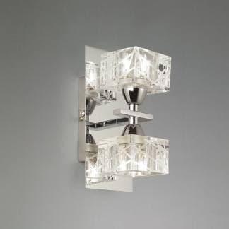 Aplique de pared doble luz zen cromo mantra