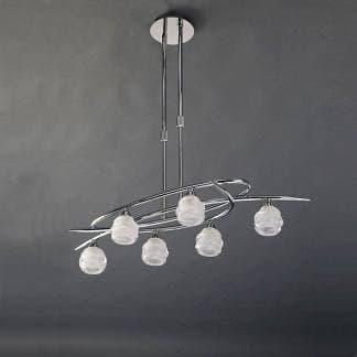 Lámpara de techo loop cromo mantra seis luces