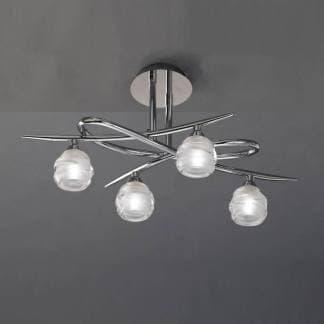 Lámpara de techo loop cromo mantra cuatro luces