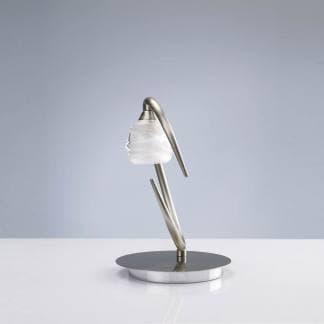 Lámpara de mesa loop niquel satinado mantra