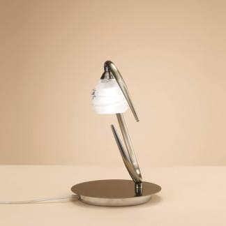 Lámpara de mesa loop cuero mantra