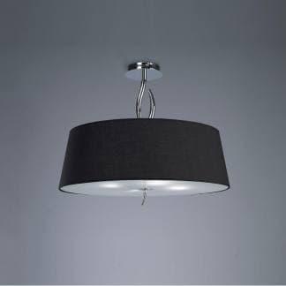 Lámpara de techo ninette cromo pantalla negra mantra