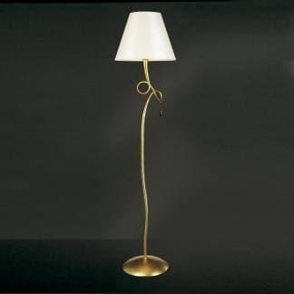 Lámpara de pie art deco paola pintura dorada mantra