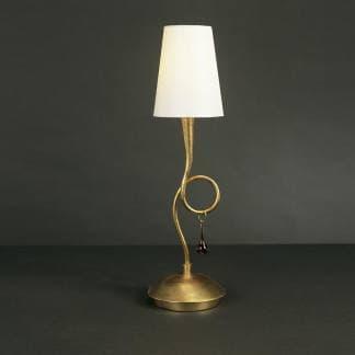 Lámpara de mesa paola pintura dorada mantra