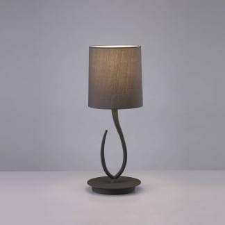 Lámpara de mesa lua gris ceniza mantra