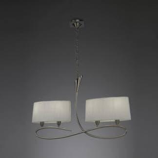 Lámpara de techo lua niquel satinado mantra cuatro luces