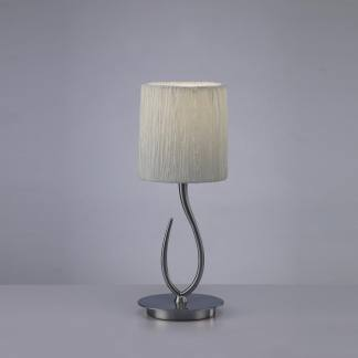 Lámpara de mesa lua niquel satinado Mantra