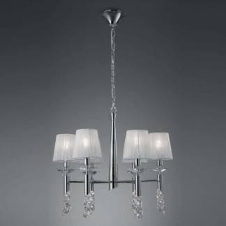 lámpara de techo tiffany cromo Mantra seis luces