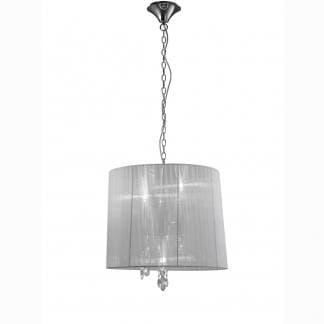 Lámpara de techo tiffany cromo Mantra
