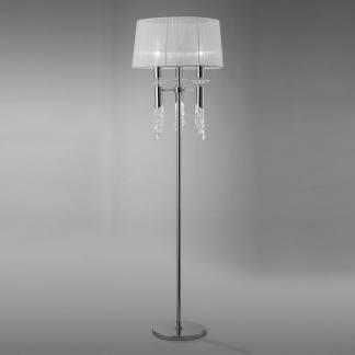 Lámpara de pie tiffany cromo mantra
