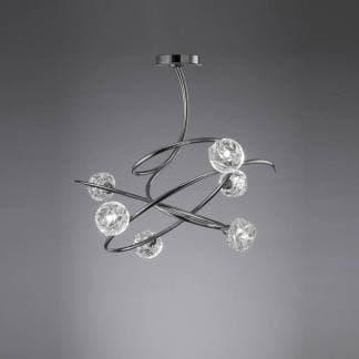 Lámpara de techo maremagnum cromo Mantra seis luces
