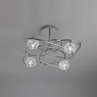 Lámpara de techo maremagnum cromo Mantra cuatro luces