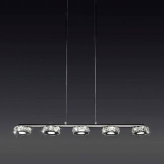 Lámpara de techo cristal led Mantra 30w