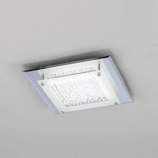 Plafón de techo cuadrado cristal led mirror Mantra 12w