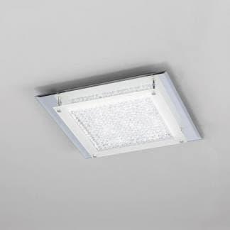 Plafón de techo cuadrado cristal led mirror Mantra 18w