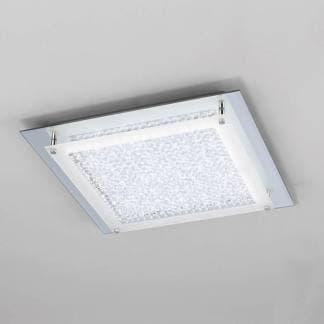Plafón de techo cuadrado cristal led mirror Mantra 21w