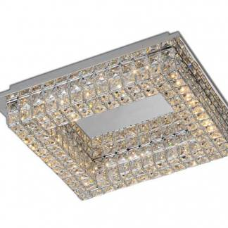 Plafón de techo cuadrado cristal led Mantra
