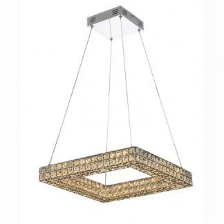 Lámpara de techo cuadrada cristal led Mantra