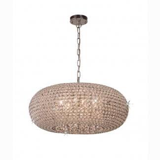 Lámpara de techo cristal led Mantra 61cm