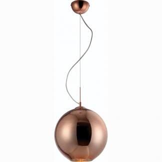 Lámpara de techo cristal bronce Mantra 25cm